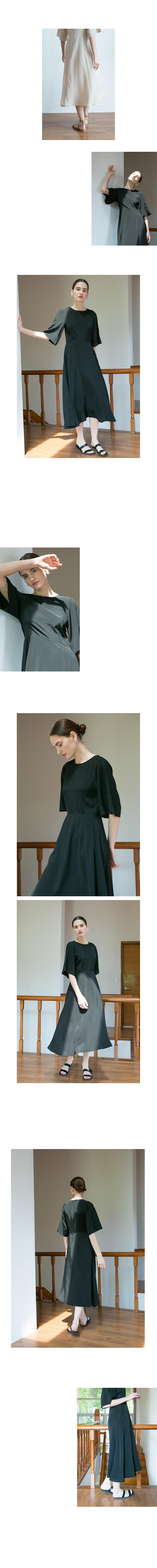 논로컬(NONLOCAL) Bell silhouette Dress - Black