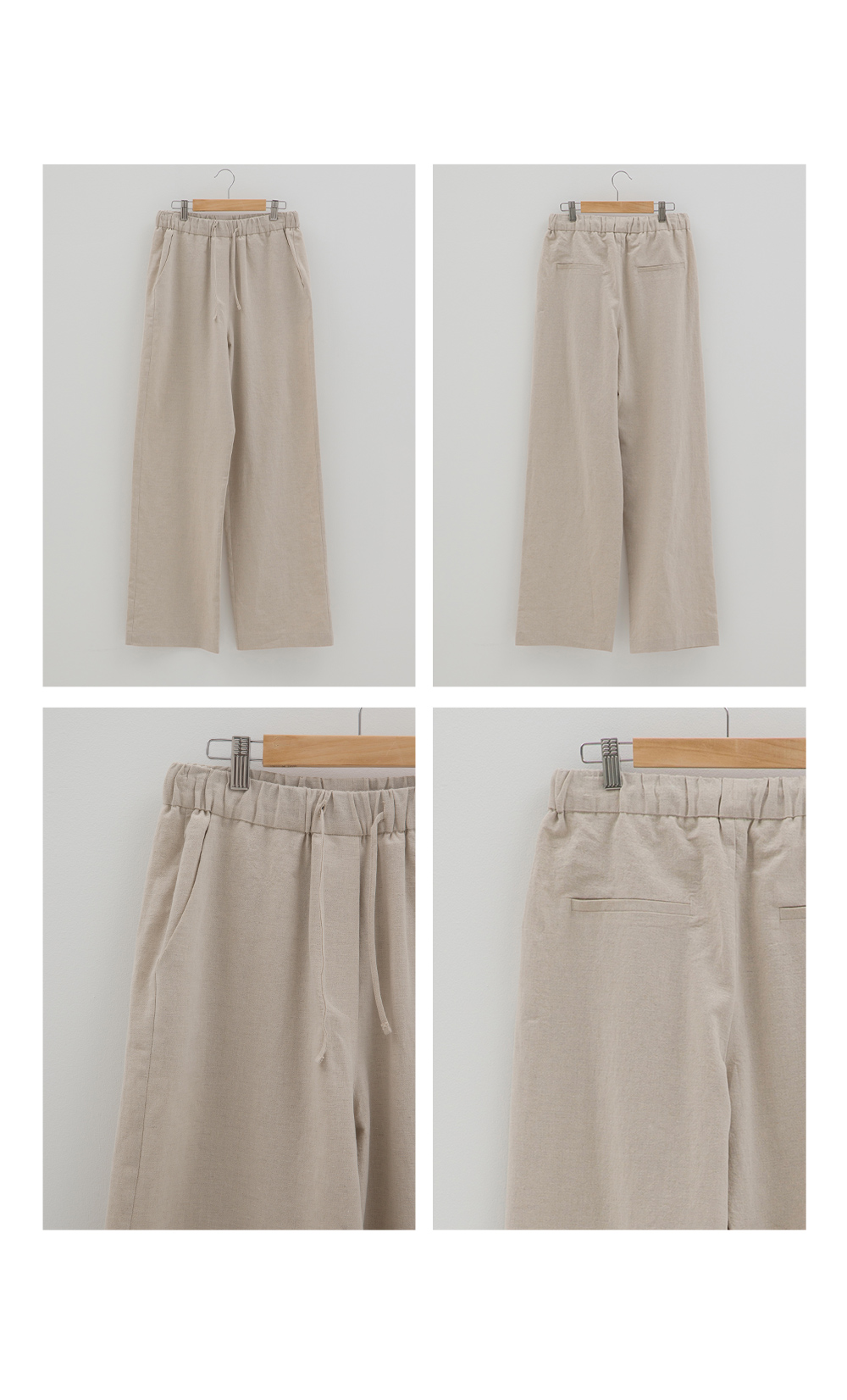 논로컬(NONLOCAL) Linen Comfort Pant - Natural